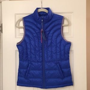 PS -Down vest! Never worn, bright blue